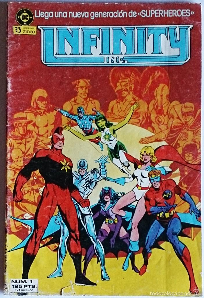 INFINITY INC Nº 1 / DC / ZINCO 1986 ( ROY THOMAS & JERRY ORDWAY ) (Tebeos y Comics - Zinco - Infinity Inc)