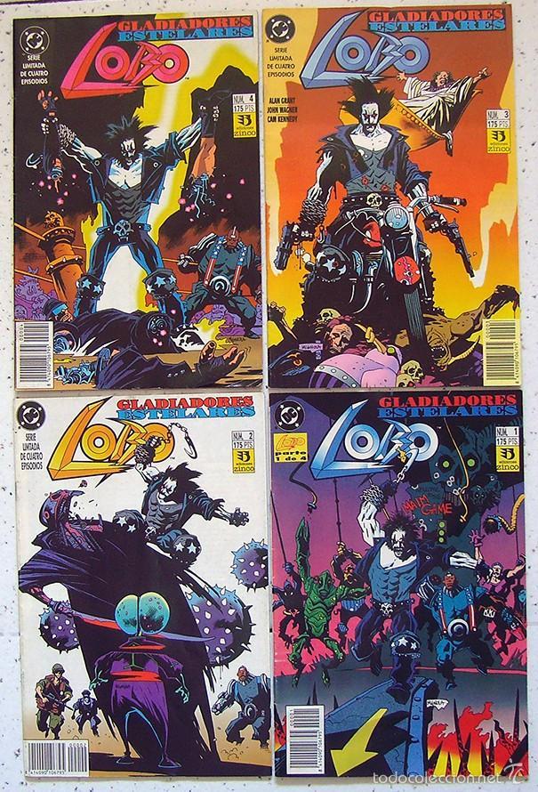 LOTE X 4 . COMIC LOBO GLADIADORES ESTERALES . SERIE LIMITADA DE 4 EPISODIOS . EDICIONES ZINCO (Tebeos y Comics - Zinco - Lobo)