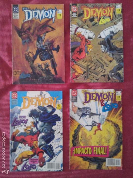 THE DEMON CONTRA LOBO COMPLETA 4 NÚMEROS - ZINCO - ALAN GRANT & VAL SEMEIKS (Tebeos y Comics - Zinco - Lobo)