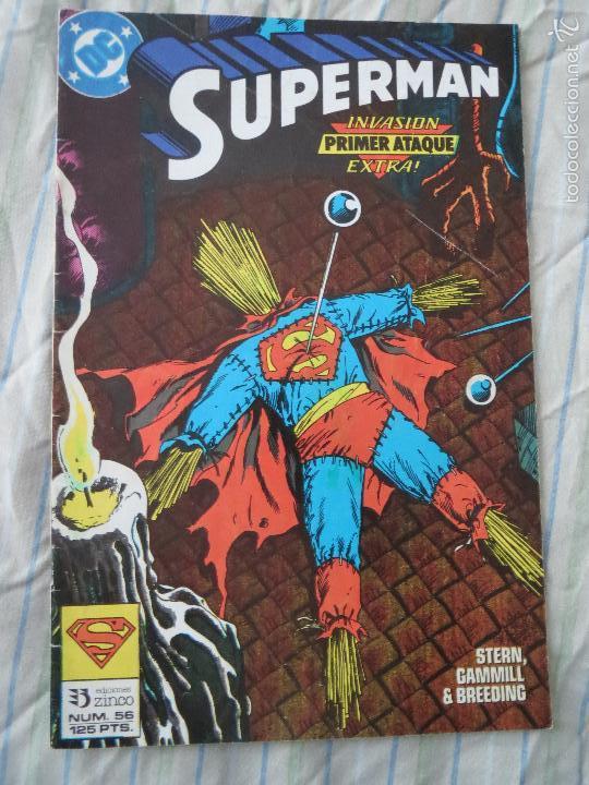 COMIC SUPERMAN NUMERO 56 SUPERMAN INVASION PRIMER ATAQUE EXTRA EDICIONES ZINCO (Tebeos y Comics - Zinco - Superman)