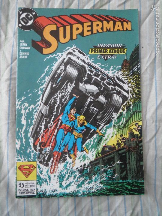 COMIC SUPERMAN NUMERO 57 SUPERMAN INVASION PRIMER ATAQUE EXTRA EDICIONES ZINCO (Tebeos y Comics - Zinco - Superman)