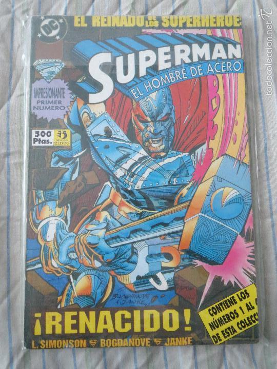 COMIC SUPERMAN TOMO 38 NUMEROS 1 A 4 ( SUPERMAN EL HOMBRE DE ACERO ) EDICIONES ZINCO (Tebeos y Comics - Zinco - Superman)