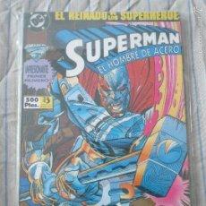 Cómics: COMIC SUPERMAN TOMO 38 NUMEROS 1 A 4 ( SUPERMAN EL HOMBRE DE ACERO ) EDICIONES ZINCO. Lote 56351531