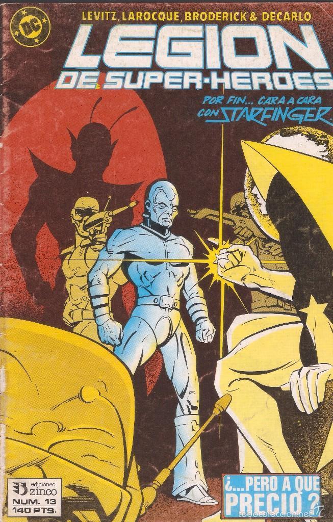 LEGIÓN DE SUPERHÉROES - Nº 13 - ED. ZINCO 1987. (Tebeos y Comics - Zinco - Otros)