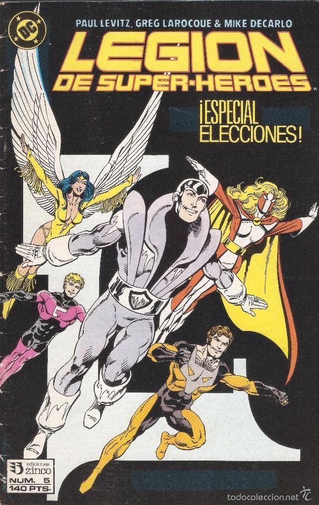 LEGIÓN DE SUPERHÉROES - Nº 5 - ED. ZINCO 1987 (Tebeos y Comics - Zinco - Otros)