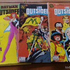 Cómics: LOTE 3 COMICS SERIE LOS OUTSIDERS EDITORIAL ZINCO Nº 23,25 Y 26. Lote 56592491