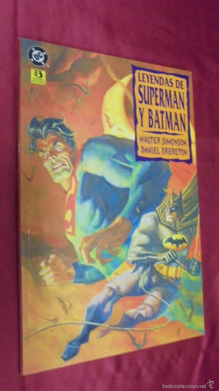 LEYENDAS DE SUPERMAN Y BATMAN . EDICIONES ZINCO. (Tebeos y Comics - Zinco - Prestiges y Tomos)