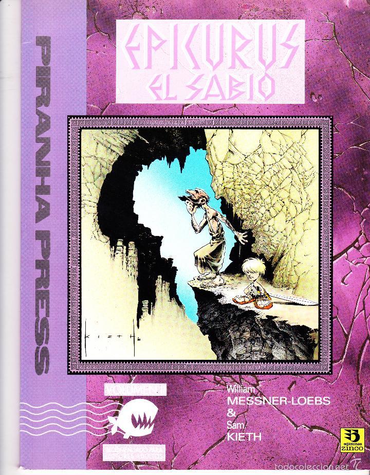 Cómics: EPICURUS EL SABIO. VOLUMEN I Y II. PIRANHA PRESS. EDICIONES ZINCO - Foto 2 - 57392034