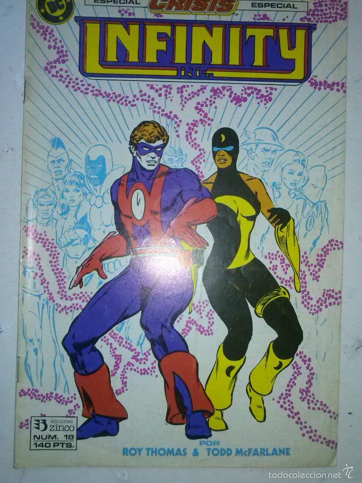INFINITY INC Nº 18-1987- GRAN OBRA DE ROY THOMAS Y TODD MCFARLANE-FLAMANTE- MUY RARO-5682 (Tebeos y Comics - Zinco - Infinity Inc)