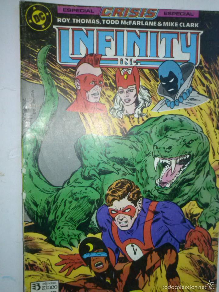 INFINITY INC Nº 19-1987- GRAN OBRA DE ROY THOMAS Y TODD MCFARLANE-BUENO- MUY RARO-5683 (Tebeos y Comics - Zinco - Infinity Inc)