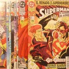 Cómics: LOTE 8 NUMEROS SUPERMAN EL HOMBRE DE ACERO EL REINADO DE LOS SUPERHOMBRES. Lote 118806200