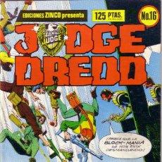 Cómics: COMIC * JUDGE DREDD/JUEZ DREDD *. Nº 16. ED. ZINCO (IMPRESO EN FINLANDIA). AÑO 1986. COMO NUEVO.. Lote 58014076