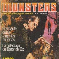 Cómics: COMIC ED.ZINCO - MONSTERS - Nº 5 ADULTOS EN BLANCO Y NEGRO CON 74 PAGS.. Lote 58200334