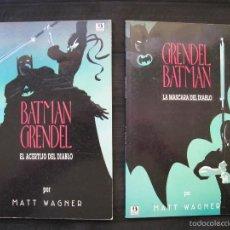 Comics: BATMAN GRENDEL - COMPLETA - 2 NUMEROS - MATT WAGNER - EDICIONES ZINCO.. Lote 58279247