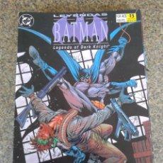 Cómics: LEYENDAS DE BATMAN -- Nº 43 -- DC / ZINCO --. Lote 58359903