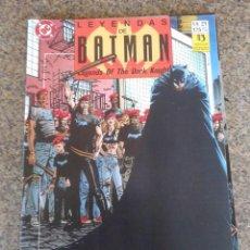 Cómics: LEYENDAS DE BATMAN -- Nº 21 -- DC / ZINCO --. Lote 58359974