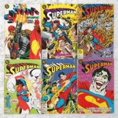 Cómics: SUPERMAN - LOTE DE 6 CÓMICS - NºS 13-14-15-16-22-23 - ED. ZINCO. Lote 58519066