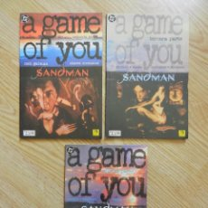 Cómics: LOTE 3 THE SANDMAN A GAME OF YOU SEGUNDA TERCERA CUARTA PARTE NEIL GAIMAN COMIC ZINCO 2 3 4 . Lote 59132150