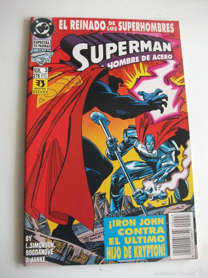 SUPERMAN Nº 3 EL REINADO DE LOS SUPERHEROES ZINCO C7A (Tebeos y Comics - Zinco - Superman)