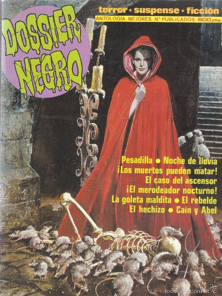 DOSSIER NEGRO - RETAPADO ANTOLOGÍA MEJORES Nº PUBLICADOS 216,217,208,185- EDT. ZINCO, 1970 (Tebeos y Comics - Zinco - Otros)
