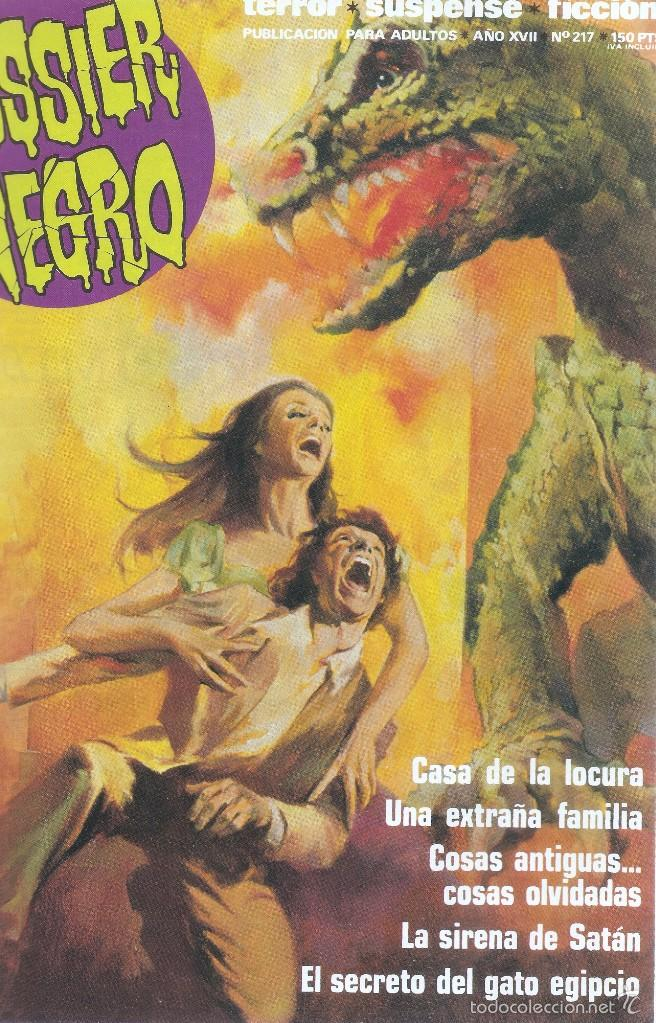 Cómics: DOSSIER NEGRO - RETAPADO ANTOLOGÍA MEJORES Nº PUBLICADOS 216,217,208,185- EDT. ZINCO, 1970 - Foto 2 - 61229327