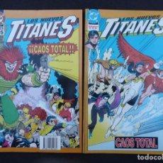 Cómics: LOS NUEVOS TITANES. CAOS TOTAL. COMPLETA EN DOS TOMOS. ZINCO. Lote 61664804