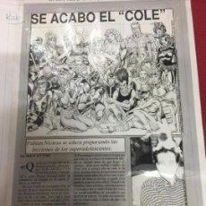 Cómics: 4 FOTOLITOS DE TALLER DE PAGINA 9 COMICS SCENE 20 COMPOSICION ENTREVISTA FABIAN NICIELA. Lote 72297323