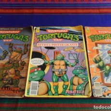 Cómics: AVENTURAS TORTUGAS NINJA NºS 2, 3 PÓSTER GIGANTE Y 5. ZINCO 1990. 150 PTS.. Lote 75702059