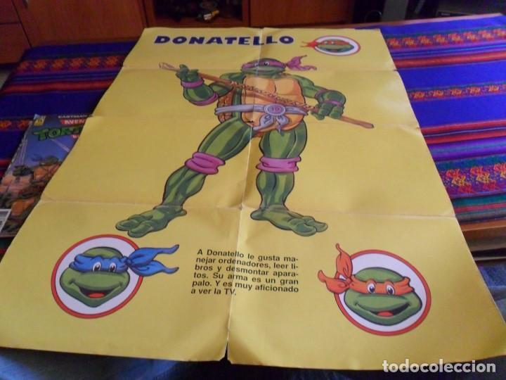 Cómics: AVENTURAS TORTUGAS NINJA NºS 2, 3 PÓSTER GIGANTE Y 5. ZINCO 1990. 150 PTS. - Foto 2 - 75702059