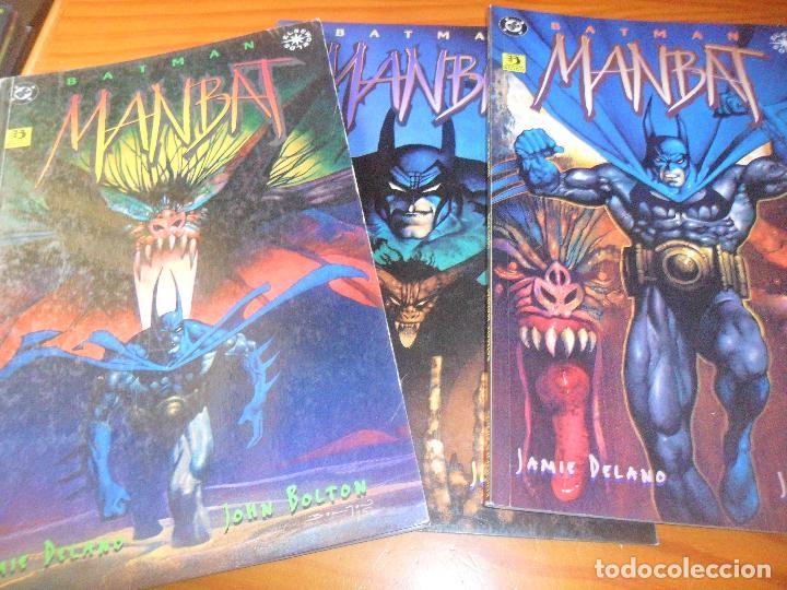 BATMAN, MANBAT - 3 TOMOS OTROS MUNDOS - DELANO/ JOHN BOLTON - ZINCO (Tebeos y Comics - Zinco - Batman)