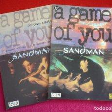 Cómics: SANDMAN UN JUEGO DE TI TERCERA Y CUARTA 3 Y 4 ( GAIMAN MCMANUS ) A GAME OF YOU ¡MUY BUEN ESTADO! DC. Lote 79710469