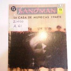 Cómics: SANDMAN NUM 3 - EDICIONES ZINCO - 1991. Lote 80452962