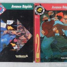 Cómics: PIRANHA PRESS - AVANCE RÁPIDO - COMPLETA 2 TOMOS ZINCO COMO NUEVOS. Lote 81116096