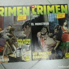 Cómics: CRIMEN - RELATOS GRAFICOS PARA ADULTOS - LOTE DE 2 CÓMICS . Lote 81702260