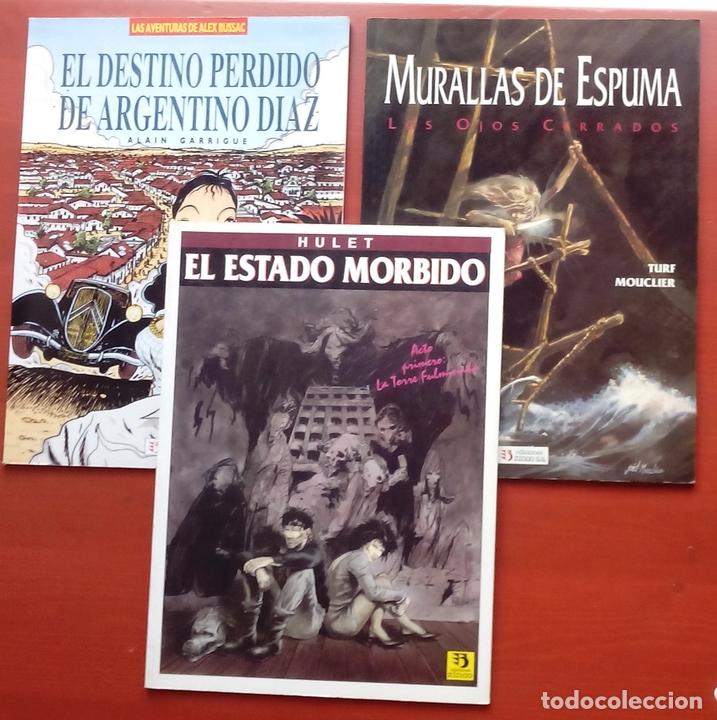 ESTADO MÓRBIDO- HULET,MURALLAS DE ESPUMA -TURF,MOUCLIER, ALEX RUSSAC- GARRIGUE (LOTE DE 3 TOMOS) (Tebeos y Comics - Zinco - Prestiges y Tomos)