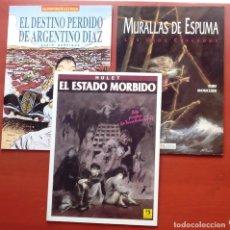 Cómics: ESTADO MÓRBIDO- HULET,MURALLAS DE ESPUMA -TURF,MOUCLIER, ALEX RUSSAC- GARRIGUE (LOTE DE 3 TOMOS). Lote 81945295