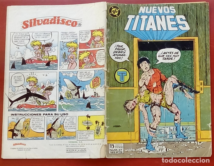 Cómics: Nuevos Titanes nº37 por Marv Wolfman, George Pérez, Mike DeCarlo - Ediciones Zinco (1987) - Foto 3 - 82895747