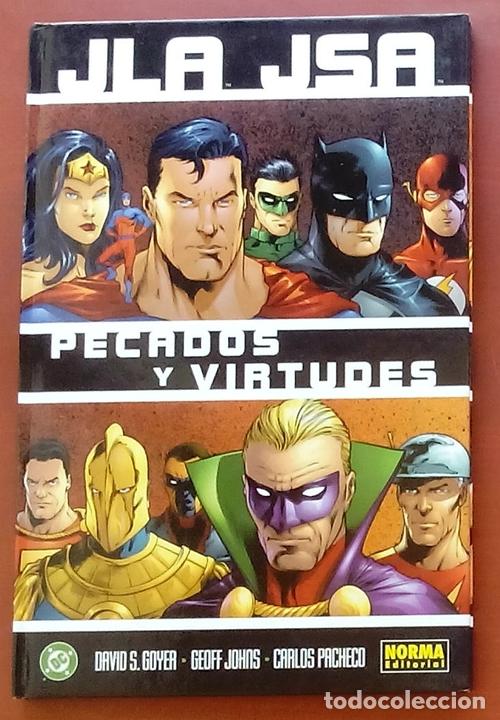 JLA / JSA: PECADOS Y VIRTUDES POR DAVID GOYER, GEOFF JOHNS, CARLOS PACHECO - NORMA COMICS (2003) (Tebeos y Comics - Zinco - Liga de la Justicia)