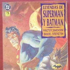 Cómics: LEYENDAS DE SUPERMAN Y BATMAN - LIBRO DOS POR WALTER SIMONSON, DANIEL BRERETON-ZINCO(1995). Lote 82978411