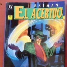 Cómics: BATMAN / EL ACERTIJO: LA FÁBRICA DE ACERTIJOS POR MATT WAGNER, DAVE TAYLOR - EDICIONES ZINCO (1996). Lote 82979134