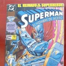 Cómics: SUPERMAN, EL HOMBRE DE ACERO Nº1 A 4 -ZINCO (1993) (RETAPADO CON 4 NÚMEROS). Lote 83315468