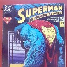 Cómics: SUPERMAN, EL HOMBRE DE ACERO Nº12 A 14 -ZINCO (1994) (RETAPADO CON 3 NÚMEROS). Lote 83316779