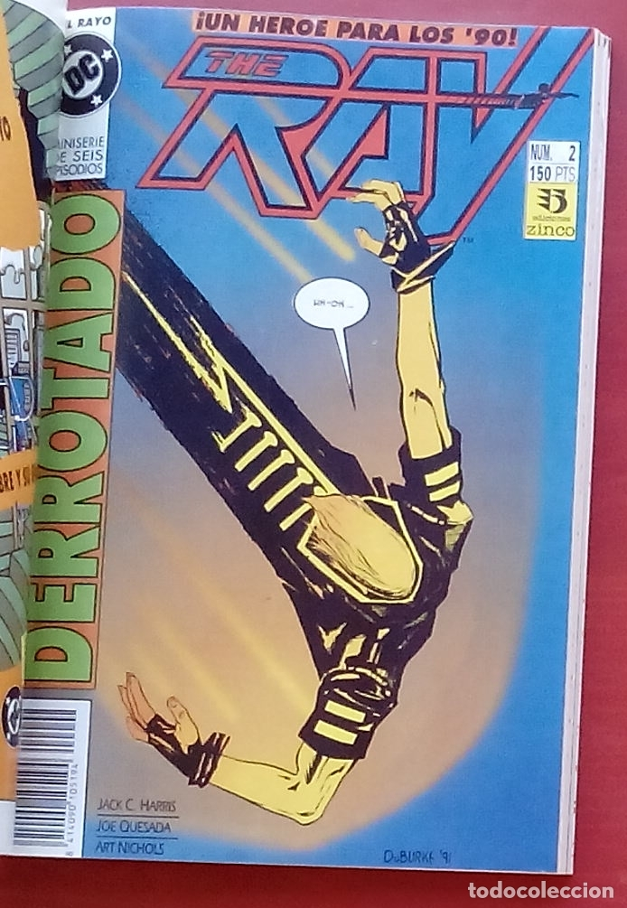 Cómics: The Ray nº1 a 6 -COMPLETA- por Joe Quesada, Jack C. Harris - Zinco (1992) (Retapado con 6 números) - Foto 4 - 83322800