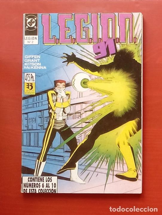 L.E.G.I.O.N. 91 Nº6 A 10 POR GIFFEN, GRANT, KITSON - ZINCO (1991) (RETAPADO CON 5 NÚMEROS) (Tebeos y Comics - Zinco - Legión 91)