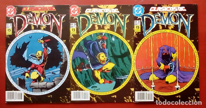 CLASICOS DC:DEMON Y COSA DEL PANTANO- WAGNER, ALAN MOORE, BISSETTE- ZINCO (1987) (LOTE DE 3 CÓMICS) (Tebeos y Comics - Zinco - Cosa del Pantano)
