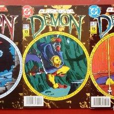 Cómics: CLASICOS DC:DEMON Y COSA DEL PANTANO- WAGNER, ALAN MOORE, BISSETTE- ZINCO (1987) (LOTE DE 3 CÓMICS). Lote 83667506