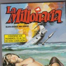 Cómics: LA MILLONARIA. CÓMICS ADULTOS. NÚMEROS , 22,23, 24, 25 1988 BUEN ESTADO. Lote 83932896