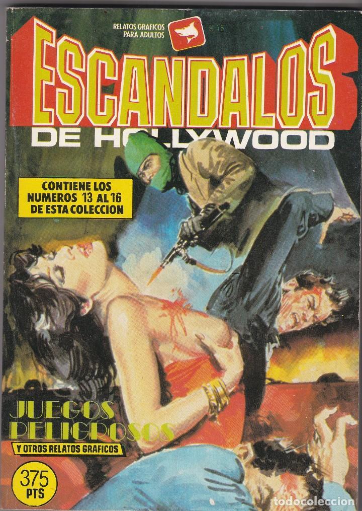 ESCÁNDALOS DE HOLLYWOOD. CÓMICS ADULTOS. NÚMEROS , 13, 14, 15, 16 1988 BUEN ESTADO (Tebeos y Comics - Zinco - Retapados)