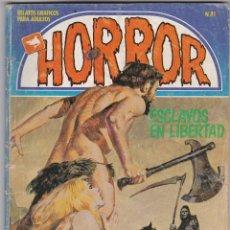Cómics: HORROR Nº 81. ZINCO 1981.(LEVE QUEMADURA DE CIGARRO QUE AFECTA PORTADA Y 3 PÁGINAS, LO DEMÁS NORMAL). Lote 83954216