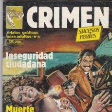 Cómics: CRIMEN Nº 31. ZINCO 1984. CÓMIC ADULTOS (COMO NUEVO). Lote 83959040